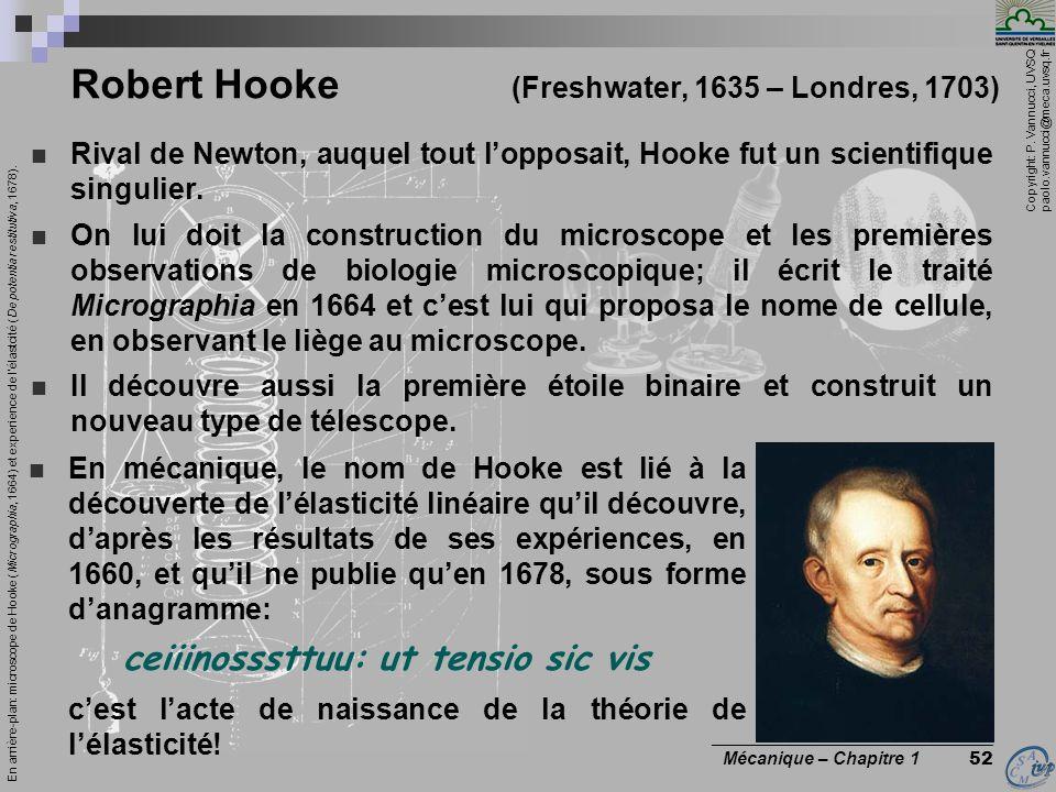 Robert Hooke (Freshwater, 1635 – Londres, 1703)