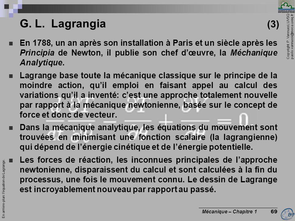 G. L. Lagrangia (3)