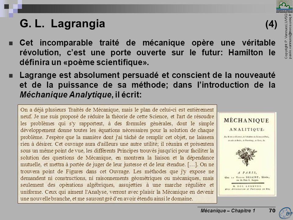 G. L. Lagrangia (4)
