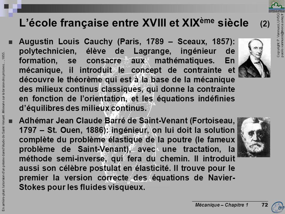 L'école française entre XVIII et XIXème siècle (2)