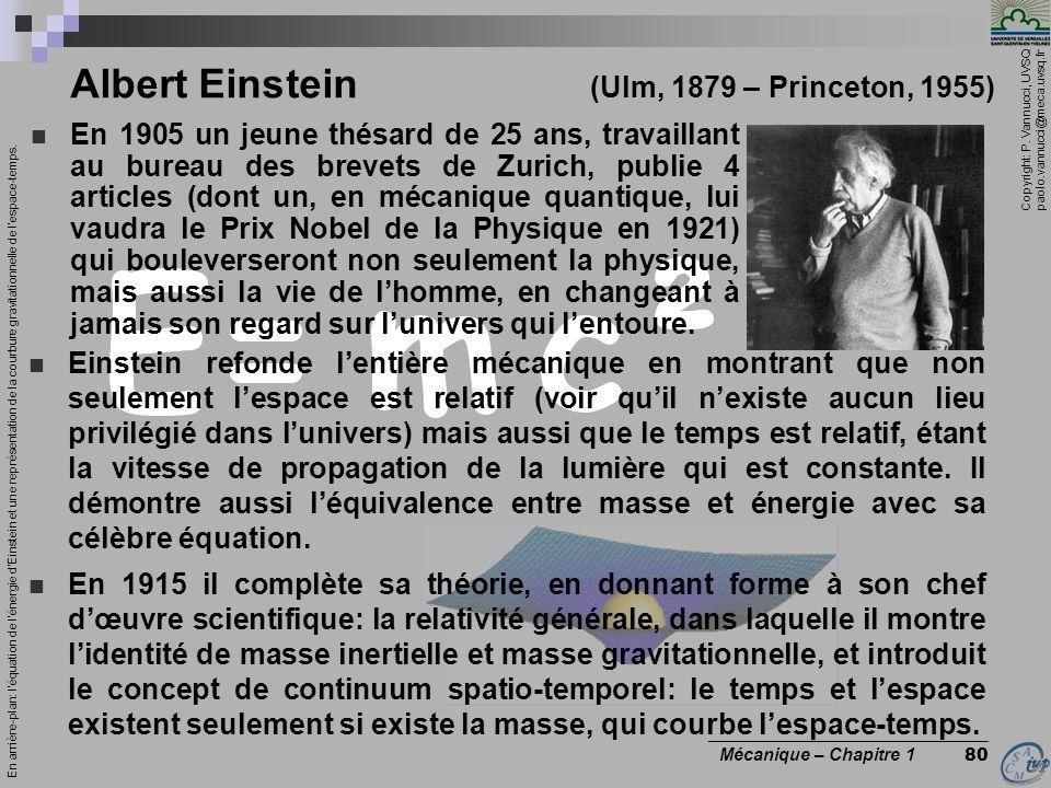 Albert Einstein (Ulm, 1879 – Princeton, 1955)
