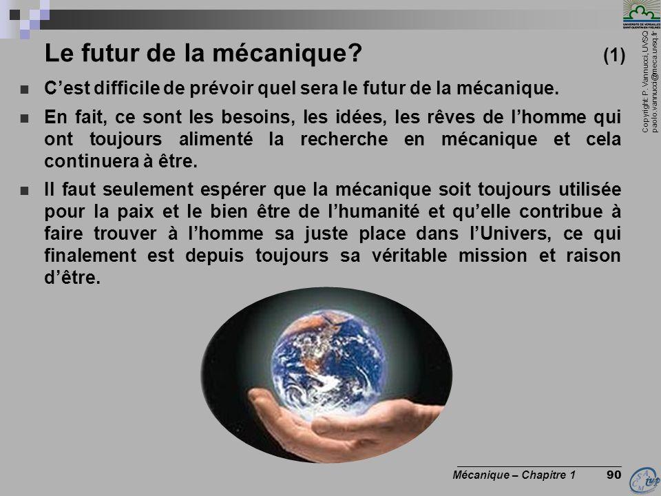 Le futur de la mécanique (1)