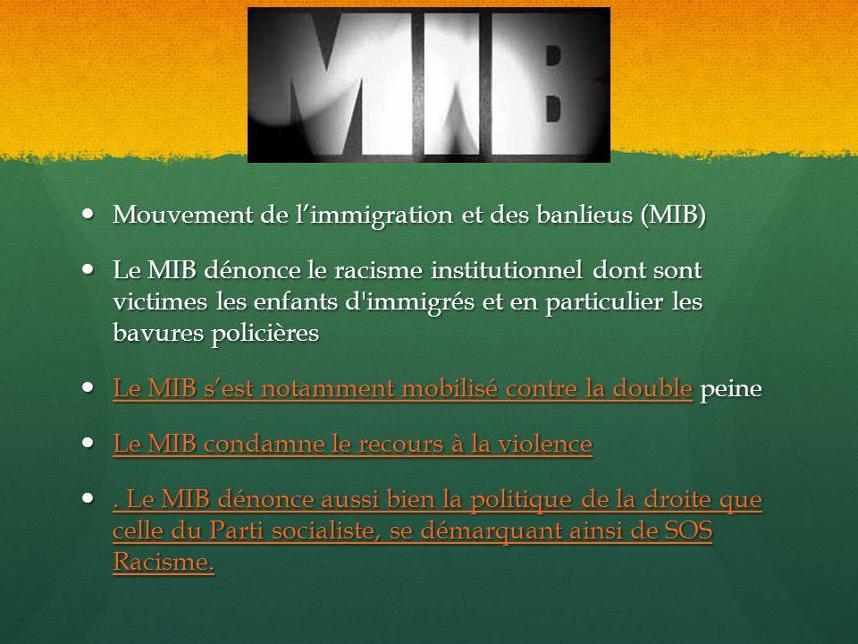 Mouvement de l'immigration et des banlieus (MIB)
