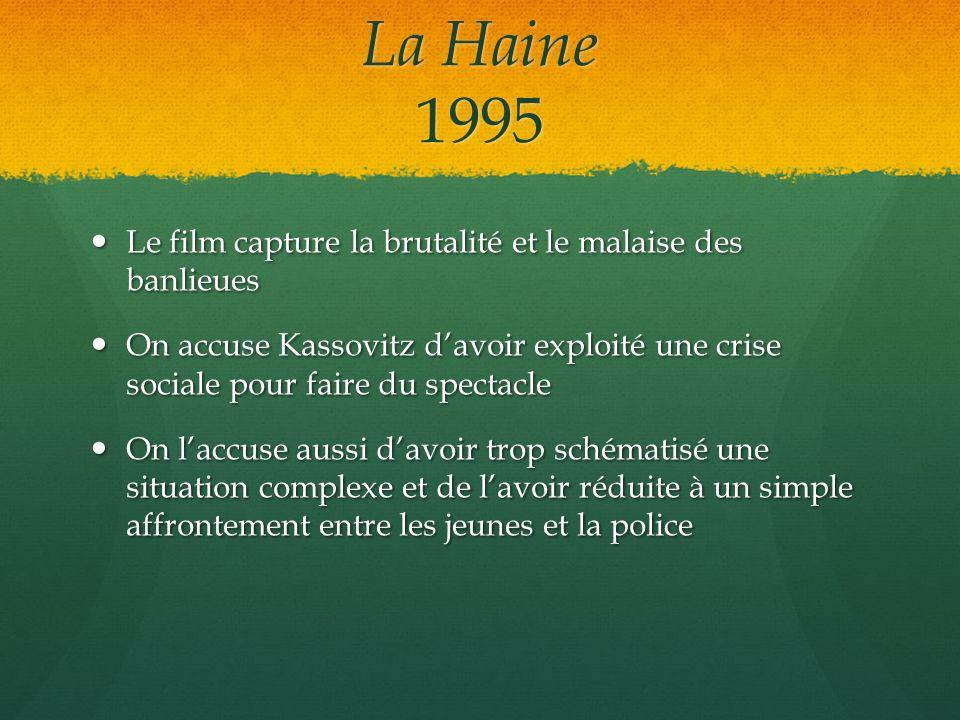 La Haine 1995 Le film capture la brutalité et le malaise des banlieues