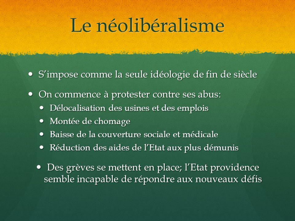 Le néolibéralisme S'impose comme la seule idéologie de fin de siècle