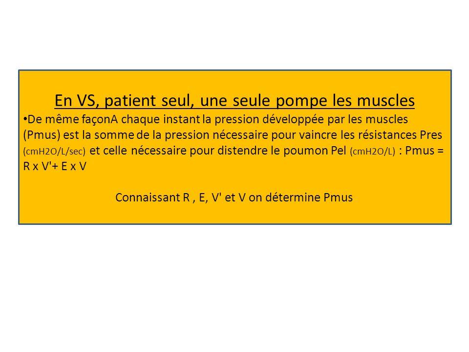 En VS, patient seul, une seule pompe les muscles