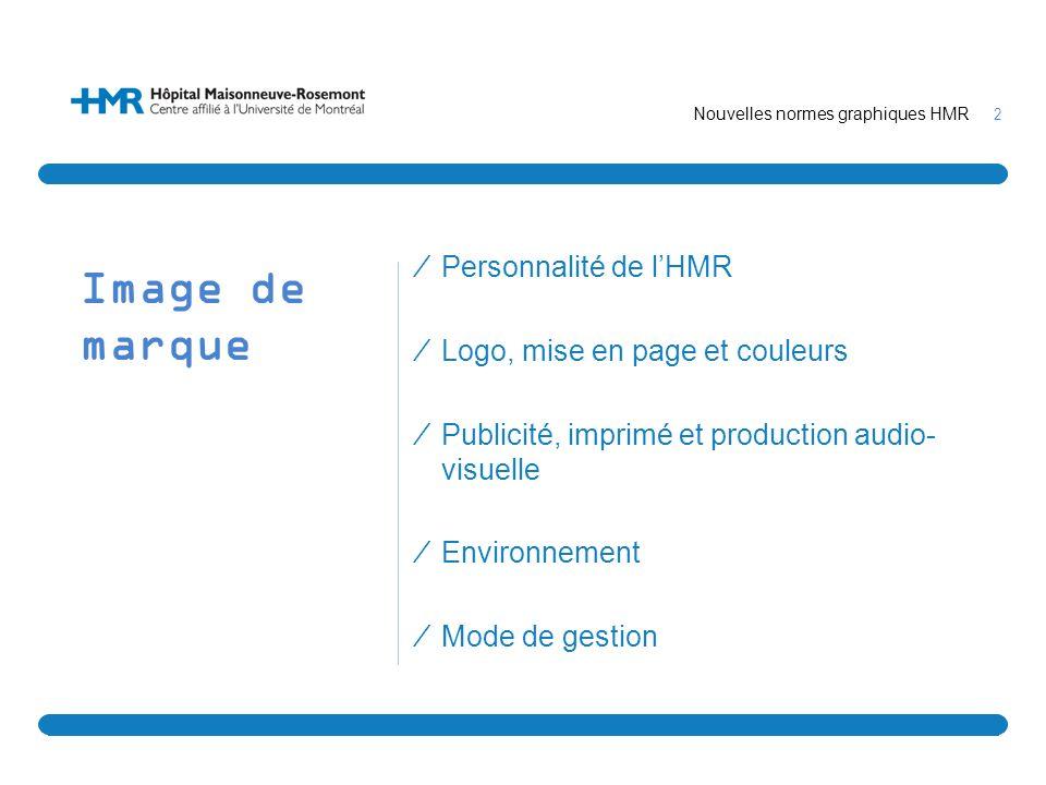 Image de marque Personnalité de l'HMR Logo, mise en page et couleurs