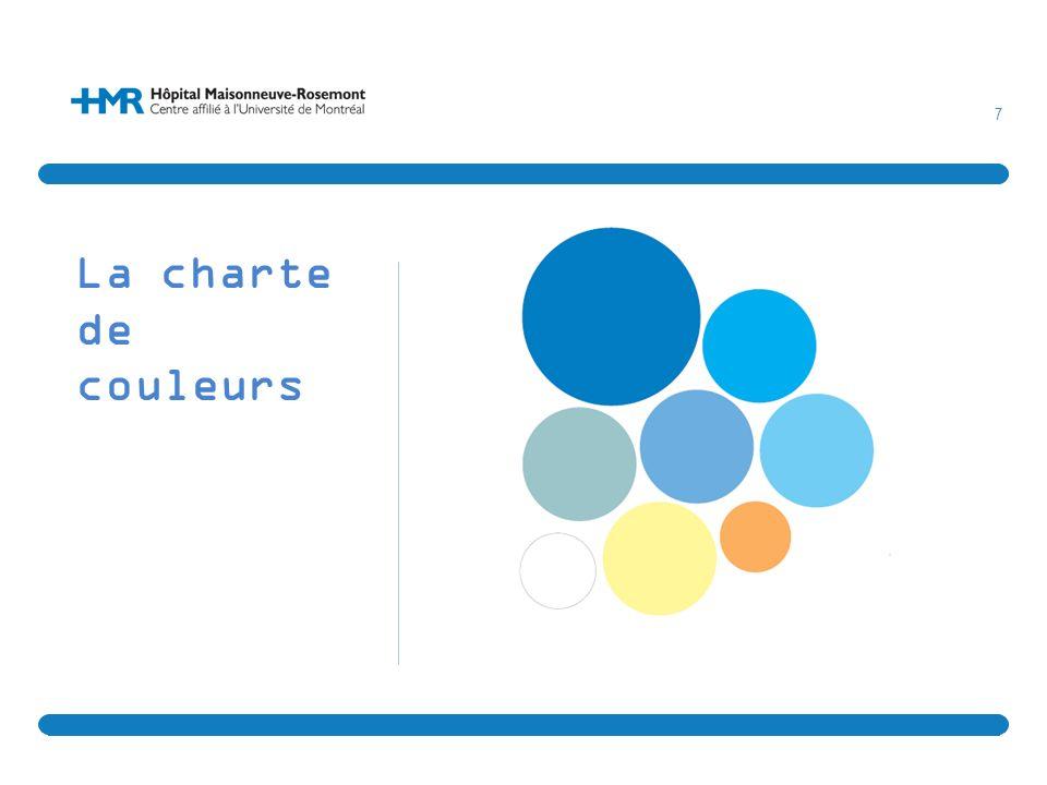 La charte de couleurs