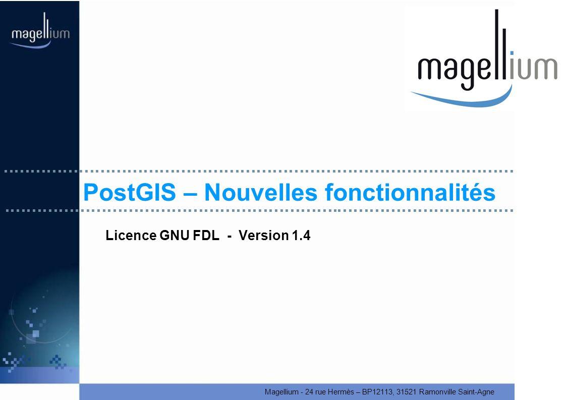 PostGIS – Nouvelles fonctionnalités