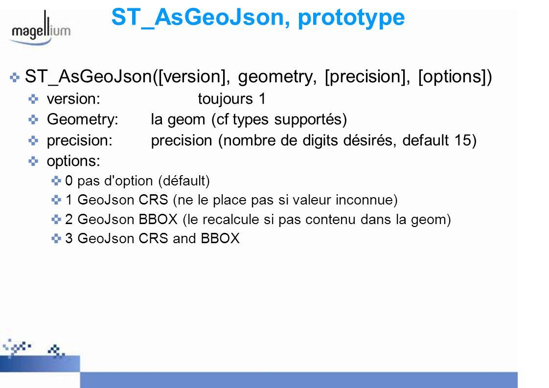 ST_AsGeoJson, prototype