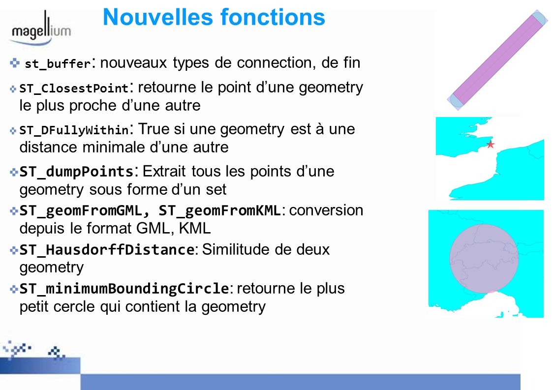 Nouvelles fonctions st_buffer: nouveaux types de connection, de fin