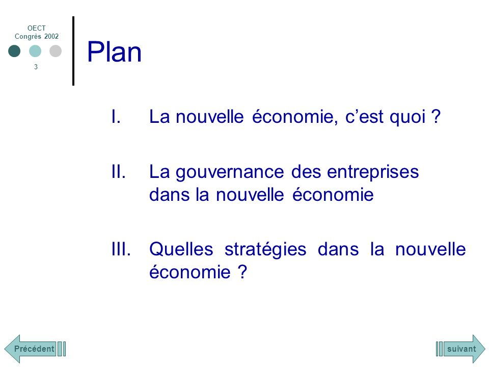 Plan La nouvelle économie, c'est quoi