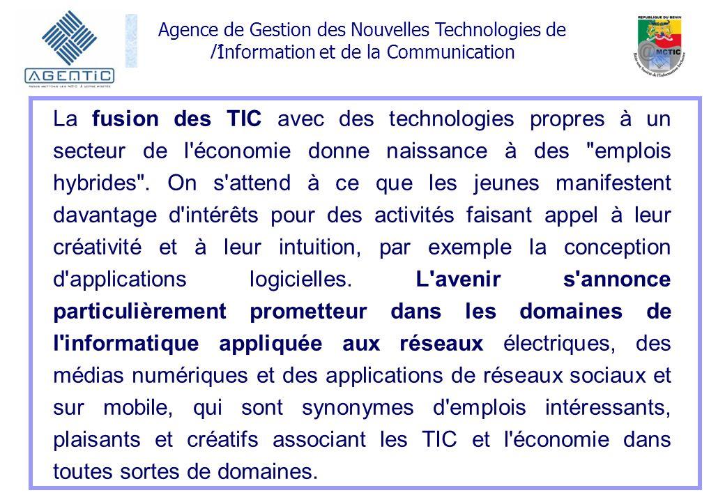 La fusion des TIC avec des technologies propres à un secteur de l économie donne naissance à des emplois hybrides .