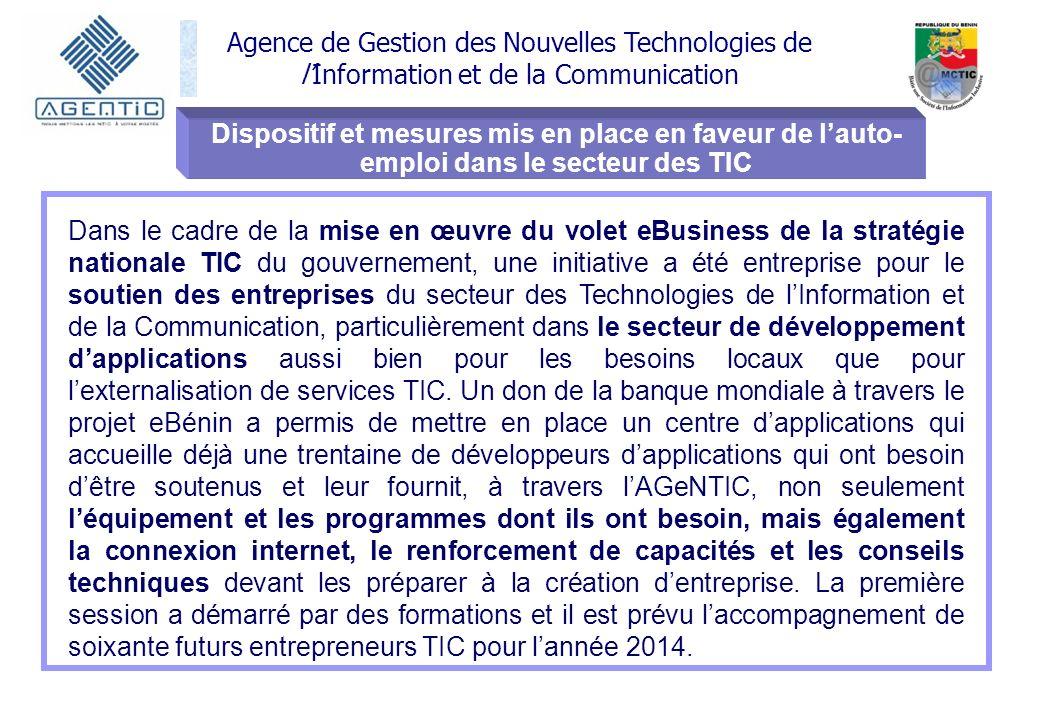 Dispositif et mesures mis en place en faveur de l'auto-emploi dans le secteur des TIC