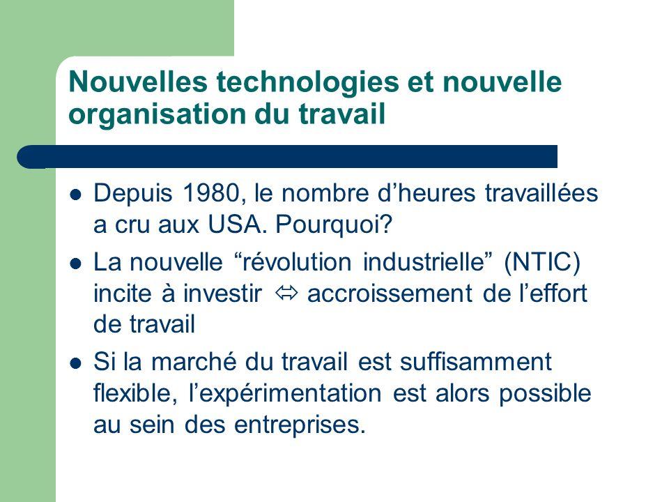 Nouvelles technologies et nouvelle organisation du travail