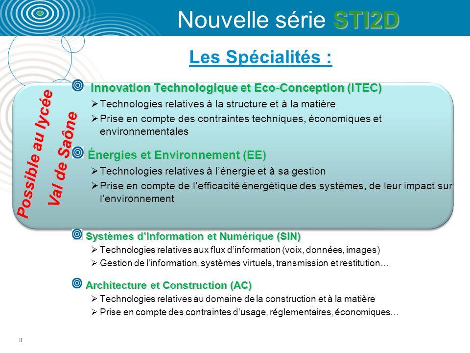 Nouvelle série STI2D Les Spécialités : Possible au lycée Val de Saône