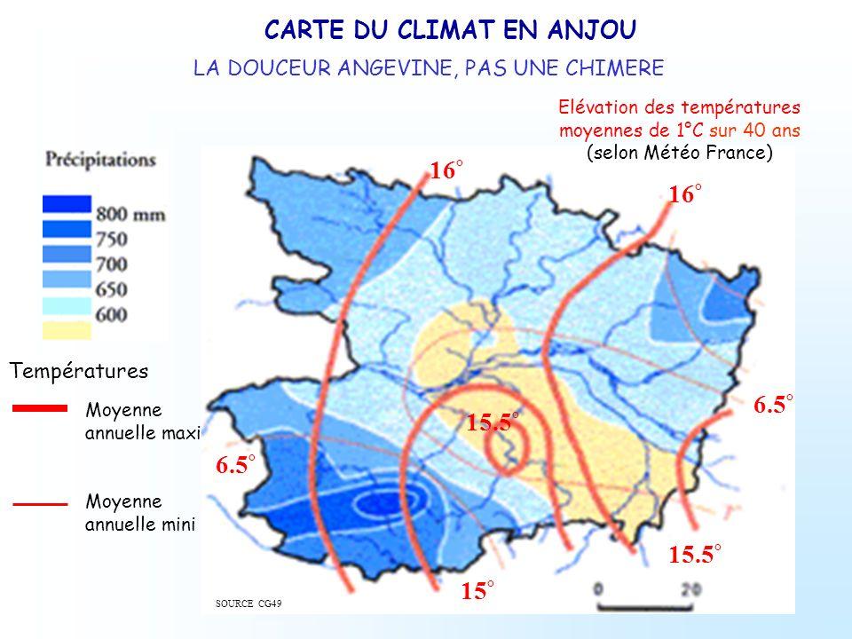 CARTE DU CLIMAT EN ANJOU