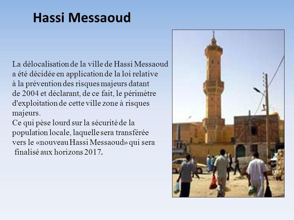 Hassi Messaoud La délocalisation de la ville de Hassi Messaoud