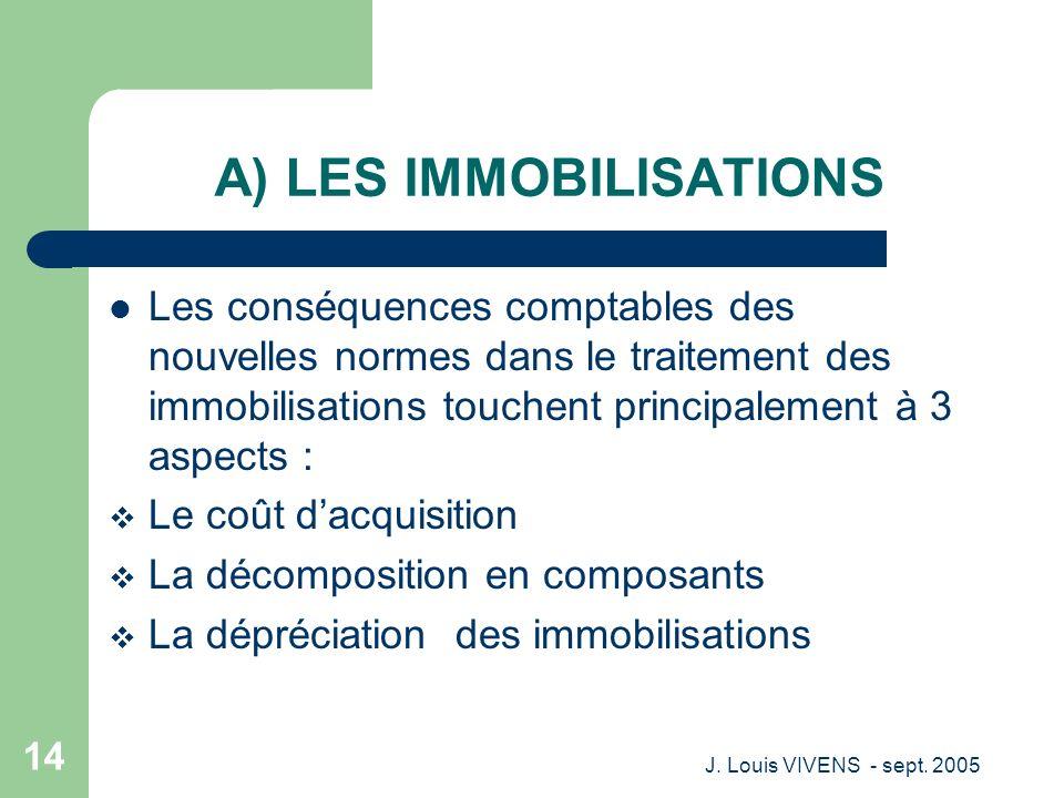 A) LES IMMOBILISATIONS