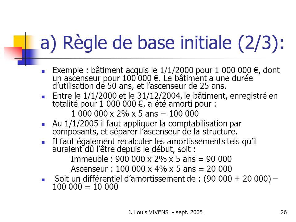 a) Règle de base initiale (2/3):