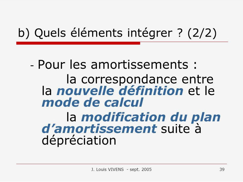 b) Quels éléments intégrer (2/2)