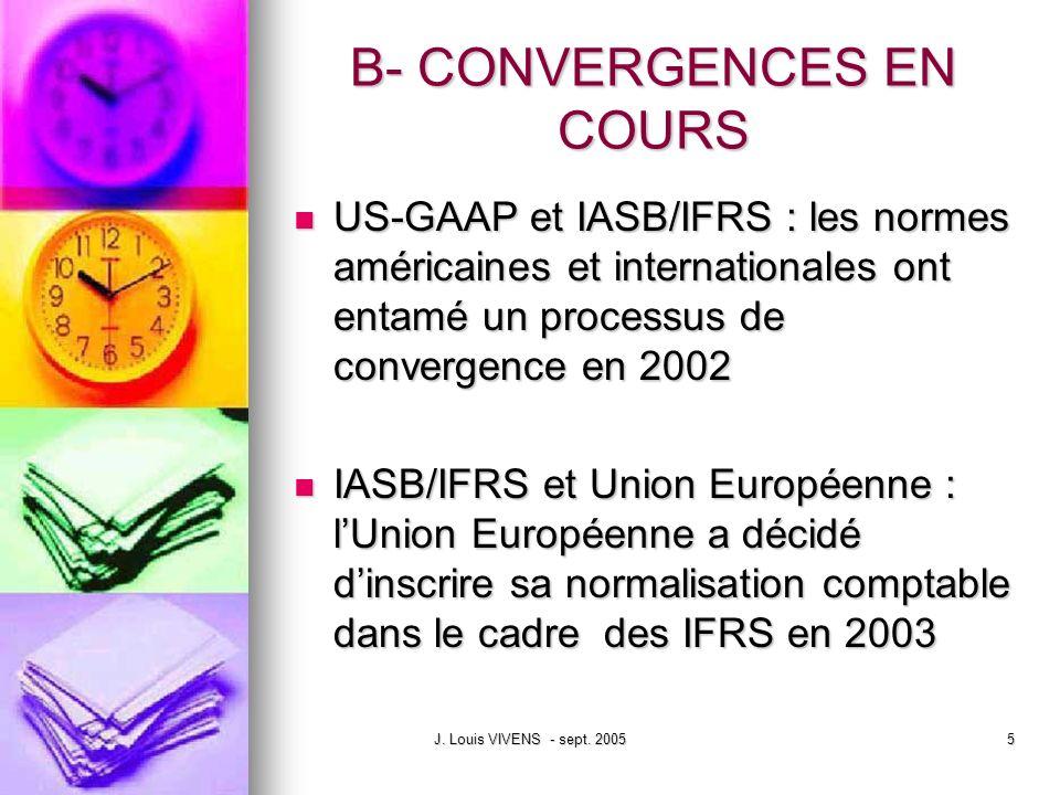 B- CONVERGENCES EN COURS