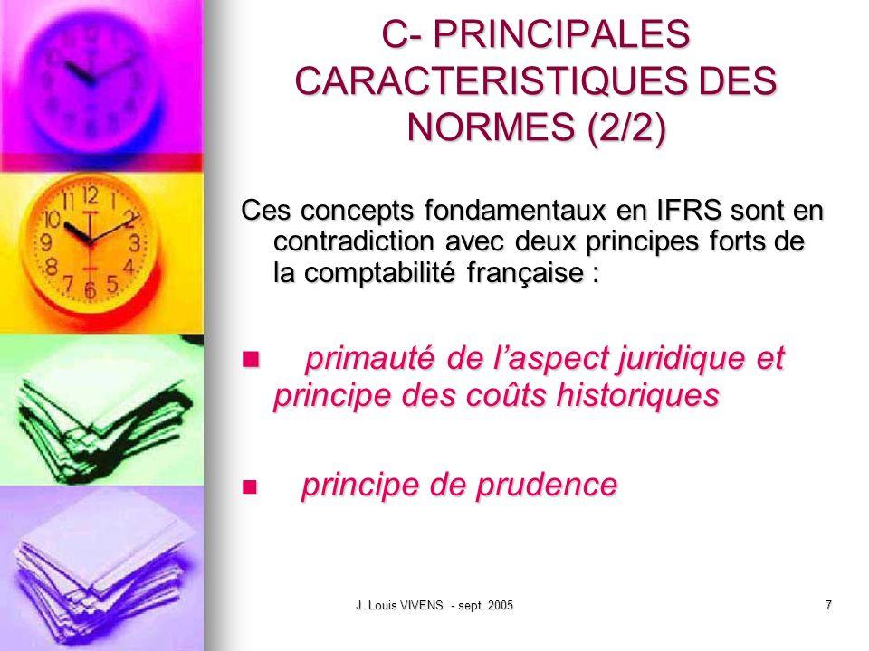 C- PRINCIPALES CARACTERISTIQUES DES NORMES (2/2)