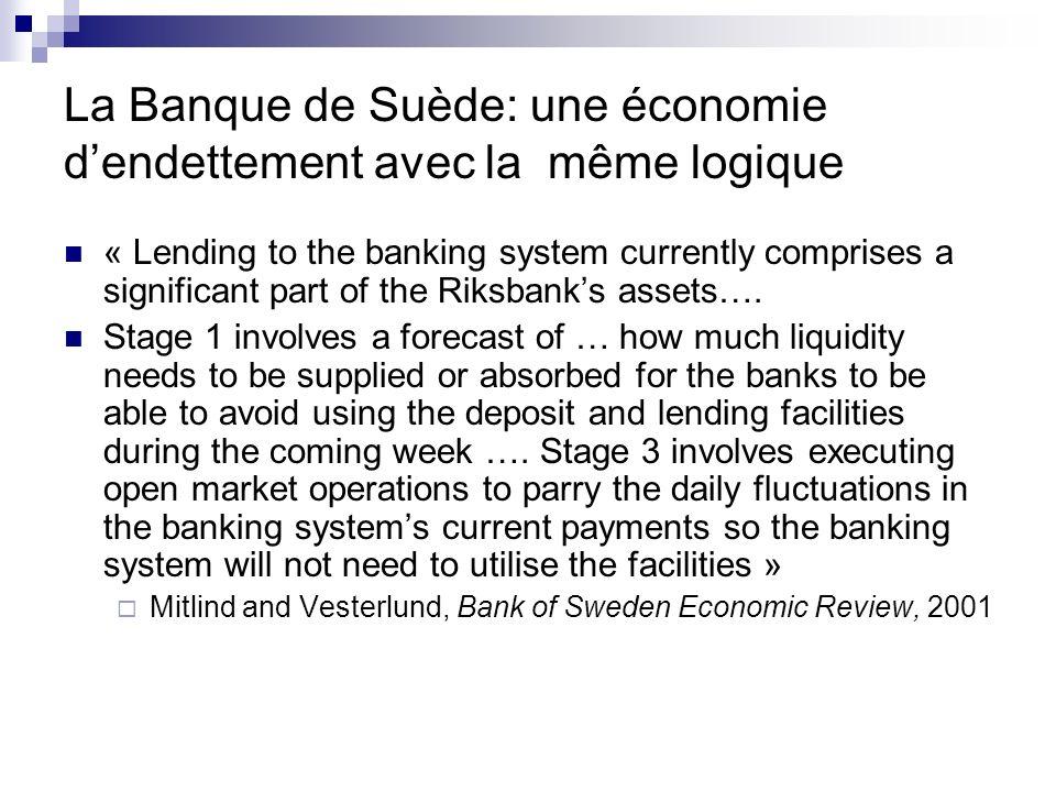 La Banque de Suède: une économie d'endettement avec la même logique