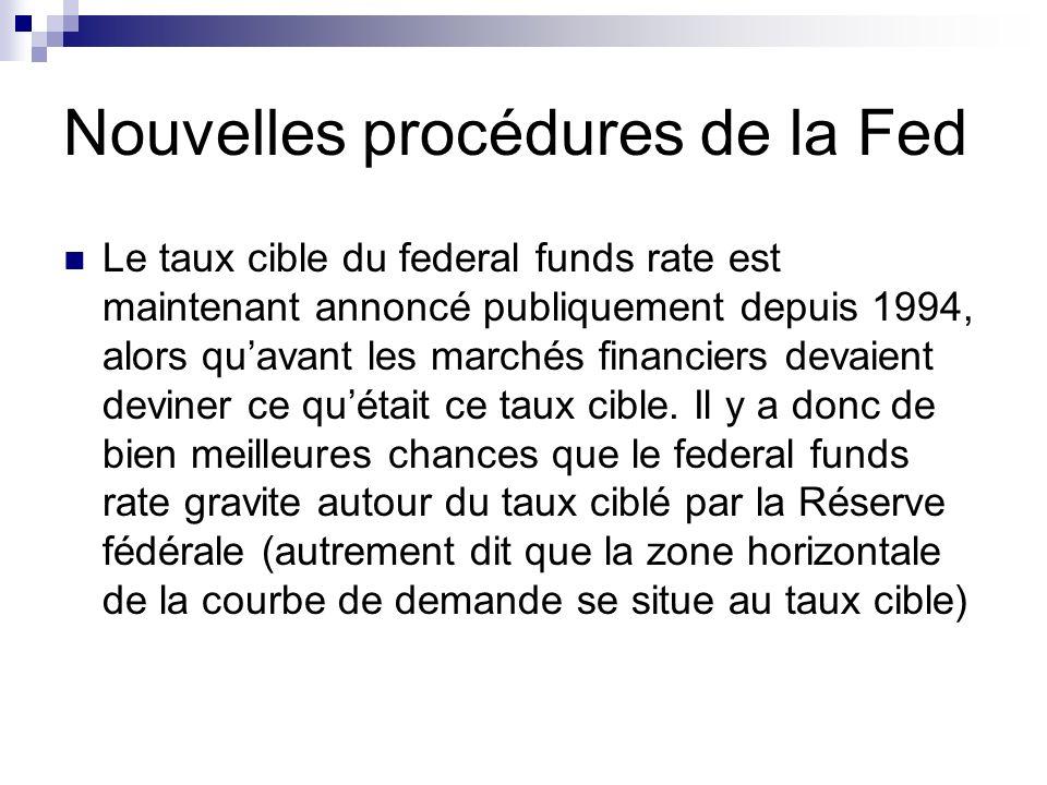 Nouvelles procédures de la Fed