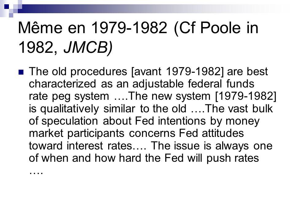 Même en 1979-1982 (Cf Poole in 1982, JMCB)