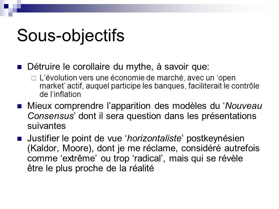 Sous-objectifs Détruire le corollaire du mythe, à savoir que: