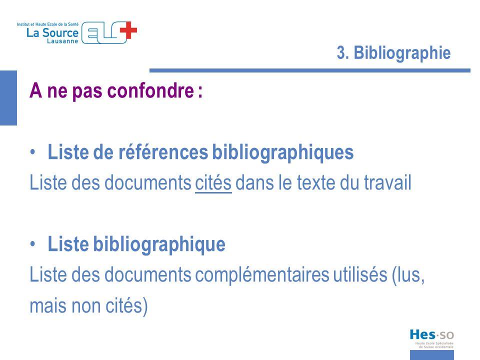 Liste de références bibliographiques