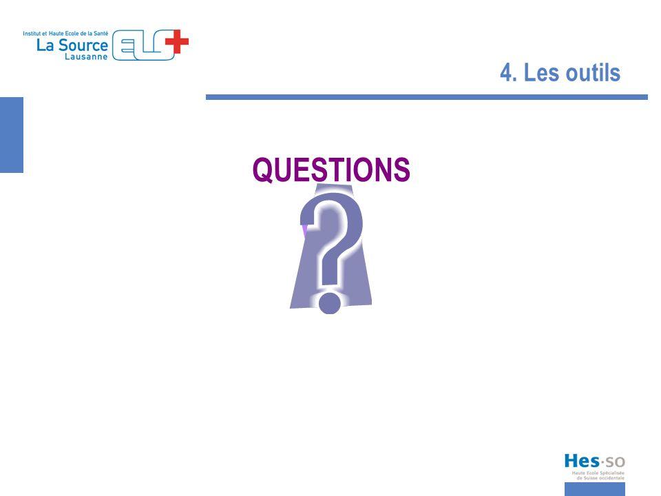 4. Les outils QUESTIONS