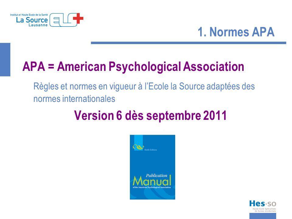APA = American Psychological Association