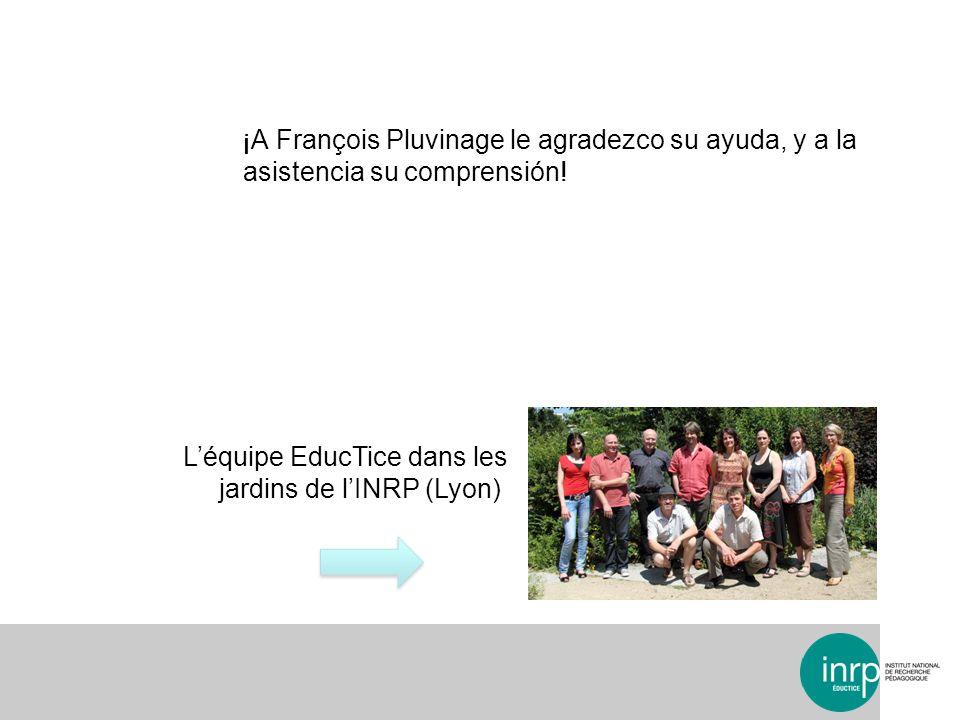 L'équipe EducTice dans les jardins de l'INRP (Lyon)