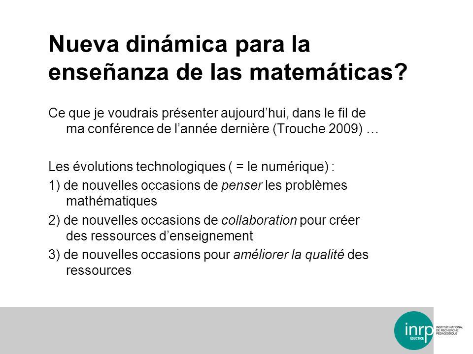 Nueva dinámica para la enseñanza de las matemáticas