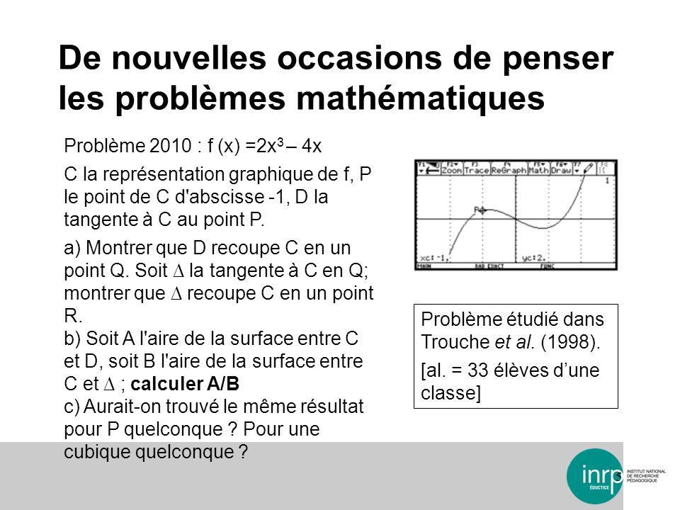 De nouvelles occasions de penser les problèmes mathématiques