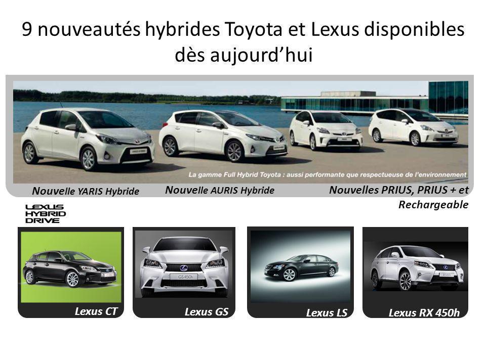 9 nouveautés hybrides Toyota et Lexus disponibles dès aujourd'hui