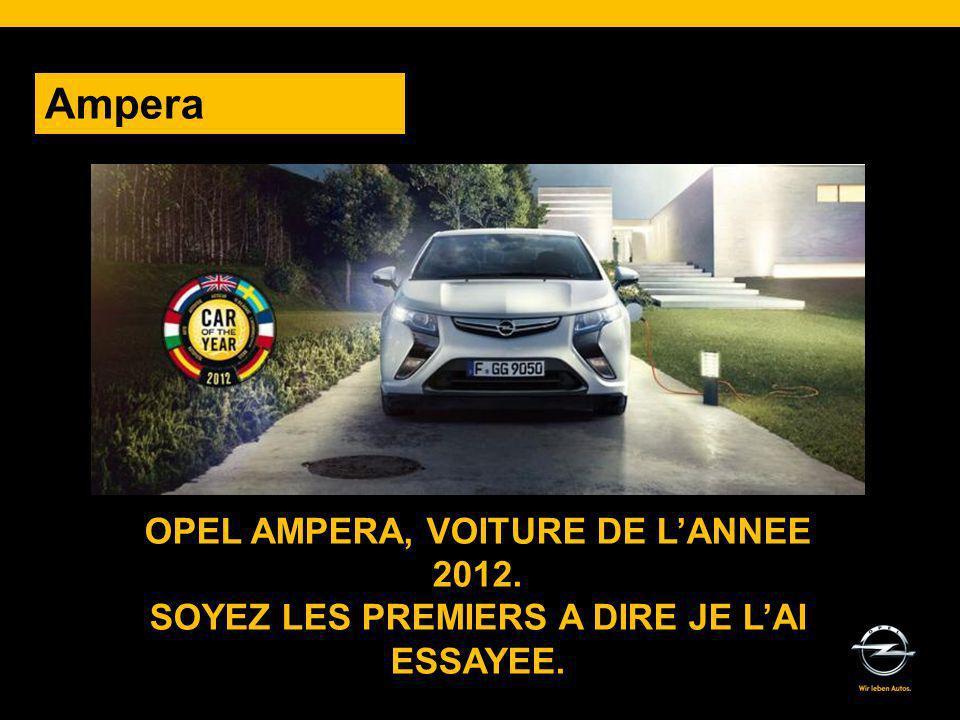 Ampera OPEL AMPERA, VOITURE DE L'ANNEE 2012.