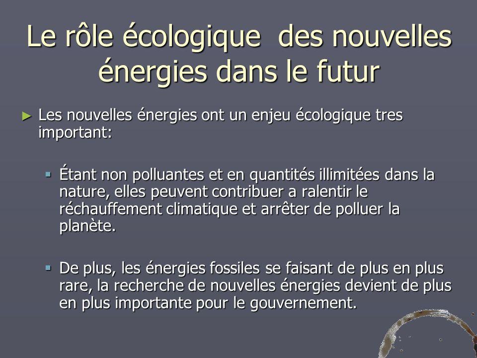 Le rôle écologique des nouvelles énergies dans le futur