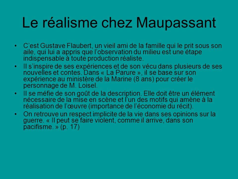 Le réalisme chez Maupassant