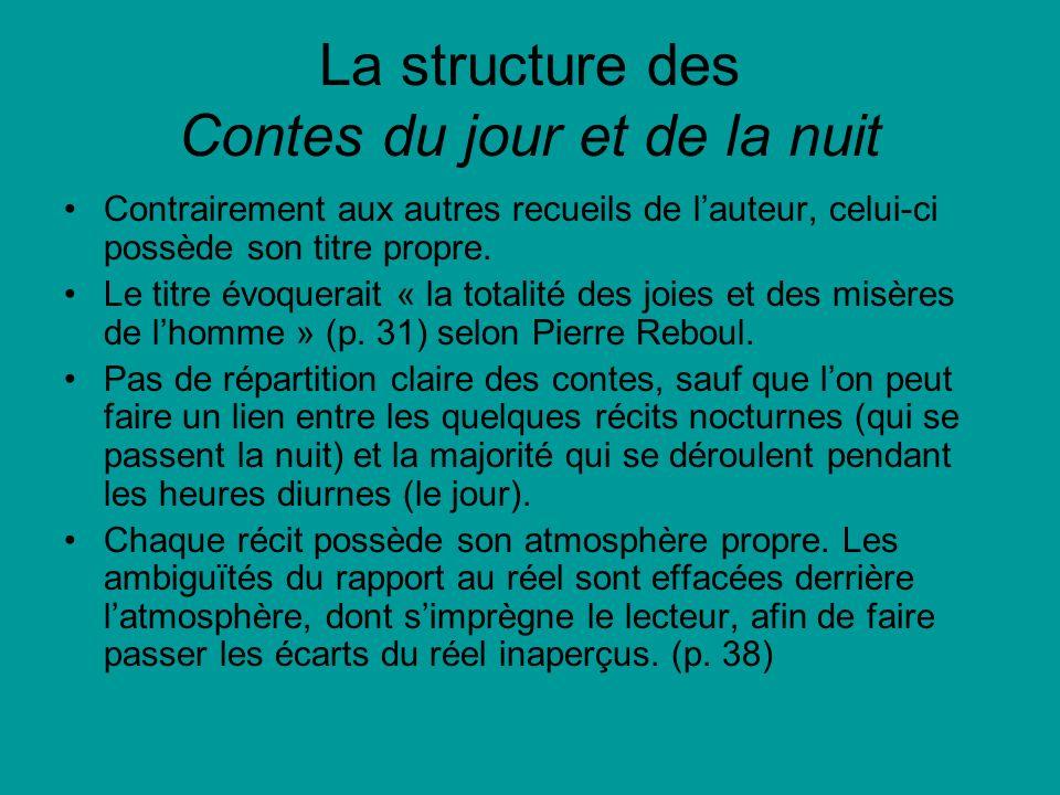 La structure des Contes du jour et de la nuit