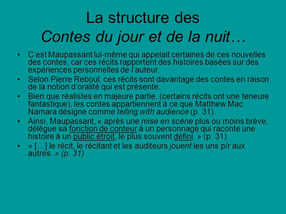 La structure des Contes du jour et de la nuit…