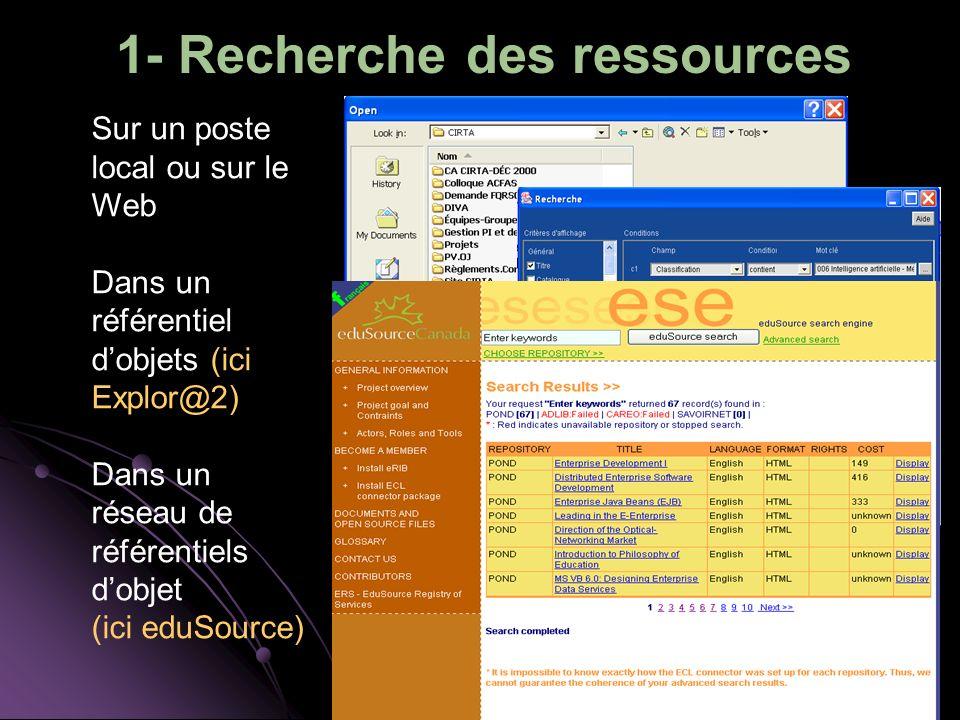 1- Recherche des ressources