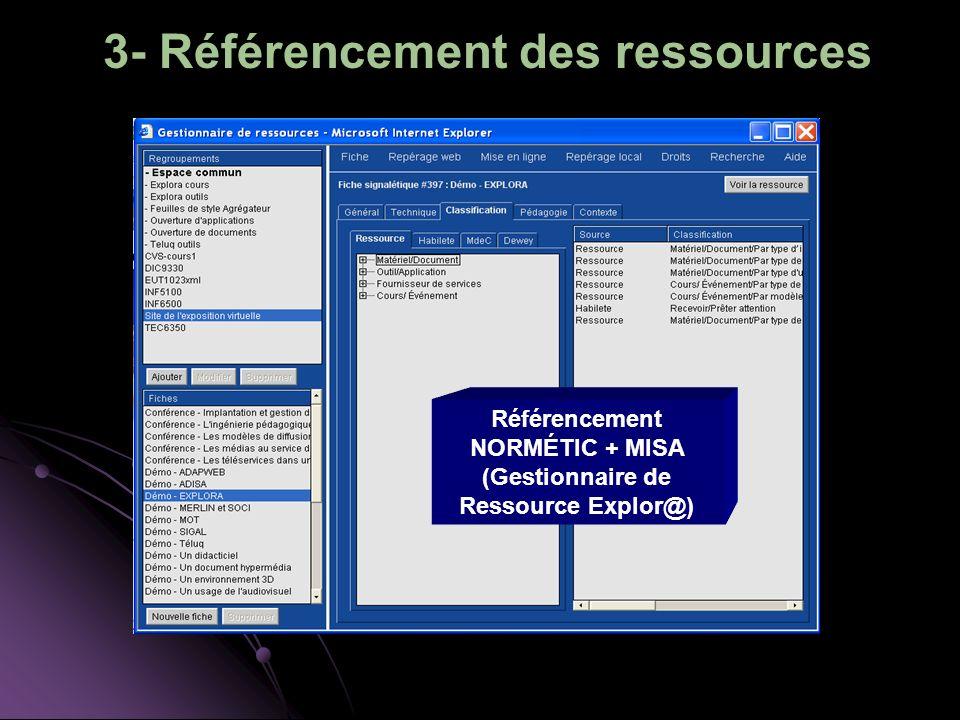 3- Référencement des ressources
