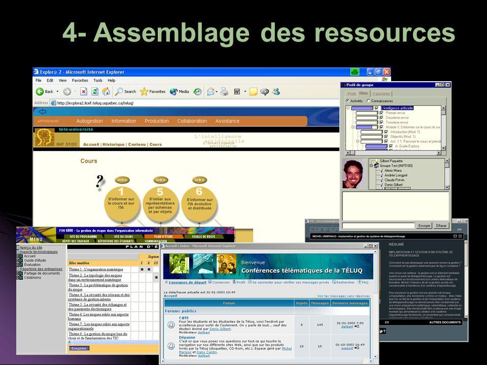 4- Assemblage des ressources