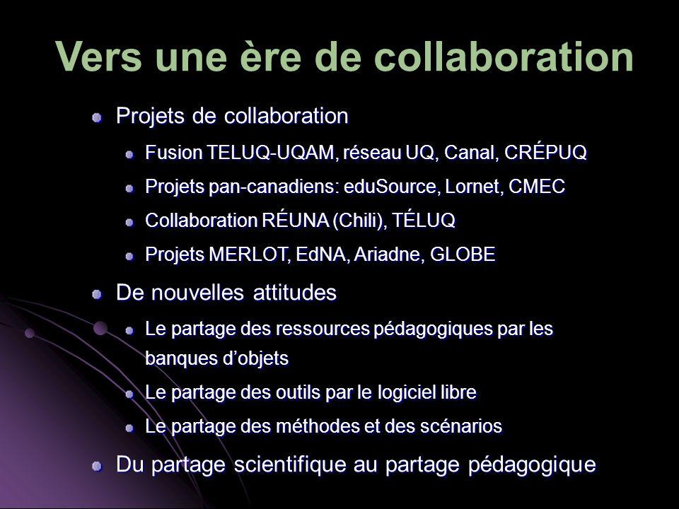Vers une ère de collaboration