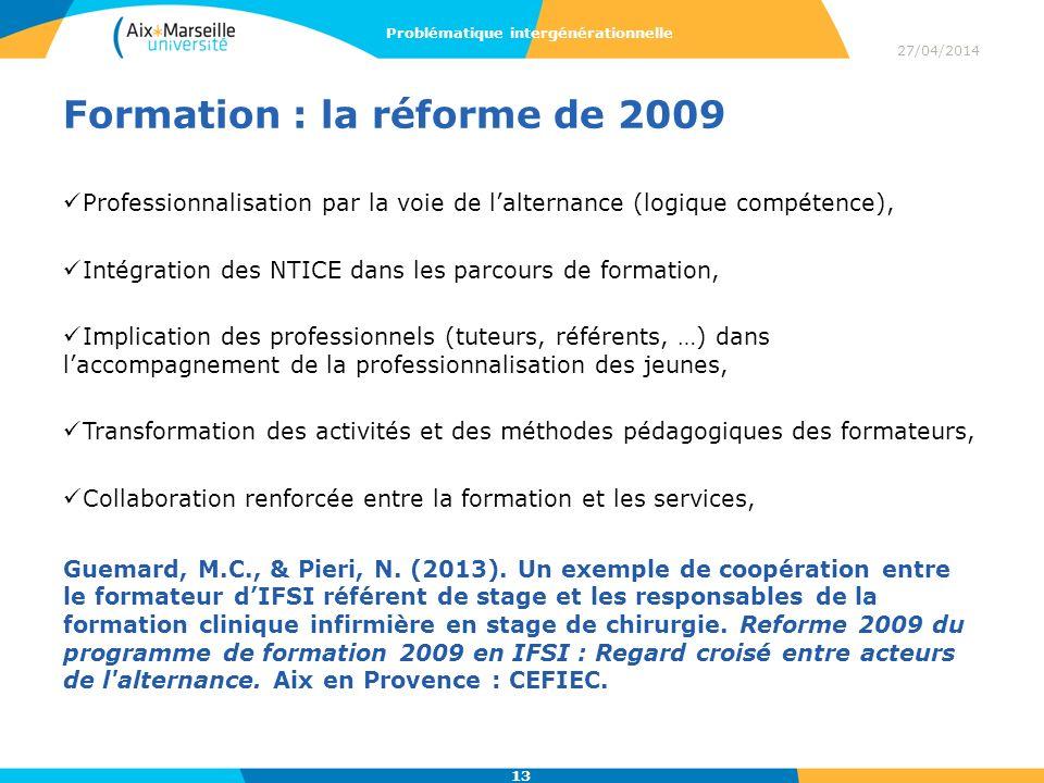 Formation : la réforme de 2009