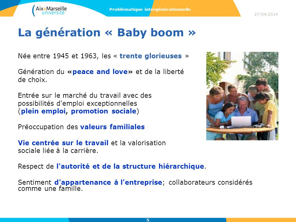 La génération « Baby boom »