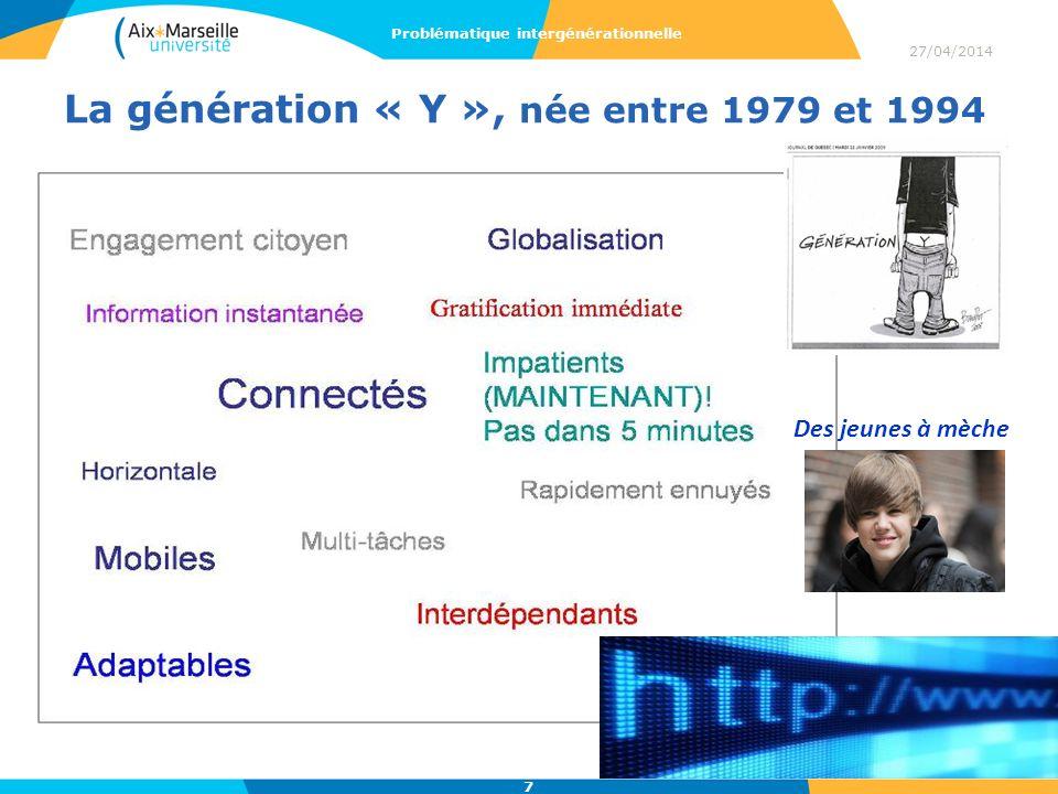 La génération « Y », née entre 1979 et 1994